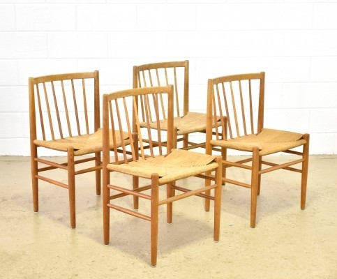 Set of 4 dining chairs by Jørgen Baekmark for FDB Møbler, 1950s