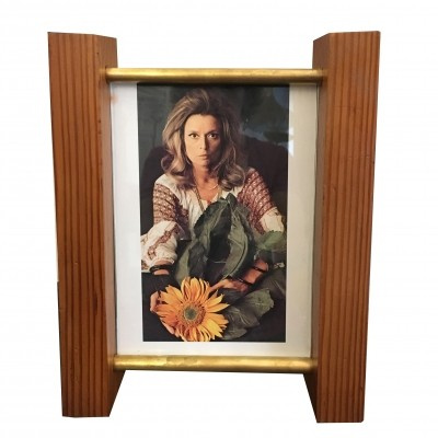 Wood & brass picture frame, 1970s