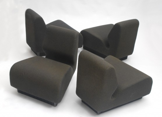 Set of 4 lounge chairs by Don Chadwick for Herman Miller, 1970s