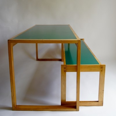 Heals Dinning Table & Bench, 1970s