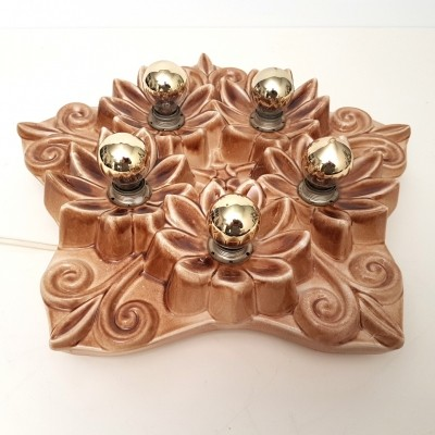 Neoclassical ceramic ceiling light, 1950s