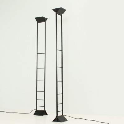 Pair of L'Escala Floor Lamps by Metalarte, Spain 1982