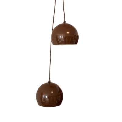 Set of Two Space Age Danish pendant lamps, 1960s