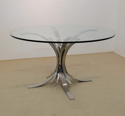 Gerbe dining table by Maria Pergay, 1970s