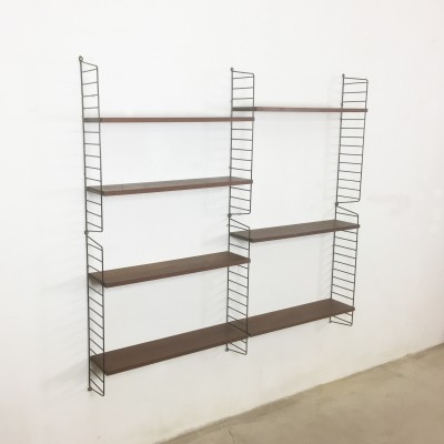 Teak wall unit by Nisse Strinning for String, 1960s