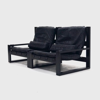 Brutalist Sonja Wasseur Two-Seater Lounge Chair, 1970s