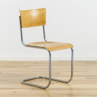 3 x S43 dinner chair by Mart Stam for Kovona NP, 1940s