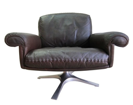 Vintage De Sede 'ds 31' swivel lounge chair, 1970s