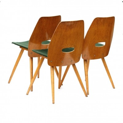 Set of 3 Model 22 - 19 dinner chairs by Tatra Nabytok NP, 1960s