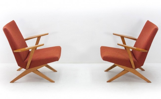 Pair of lounge chairs by Bodil Kjær for Harbo Solvsten, 1950s
