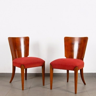 Pair of dinner chairs by Jindřich Halabala for Spojene UP Zavody, 1950s