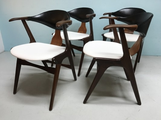 4 x dining chair by Louis van Teeffelen for AWA, 1960s