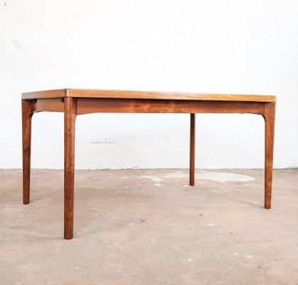 Extendable table in rosewood by Henning Kjaernulf for Vejle