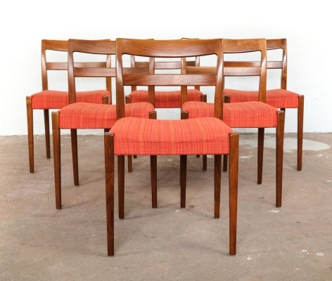 Set of 6 chairs in teak by Nils Jonsson for Troeds (Sweden)