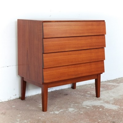 Chest of 4 drawers in teak by Ib Kofod Larsen, 1960s
