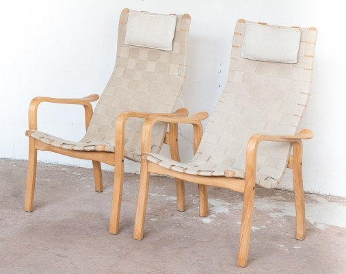Pair of easy chairs by Yngve Ekström for Swedese