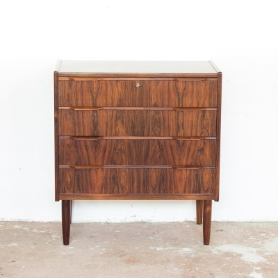 Danish chest of 4 drawers in rosewood, 1960s