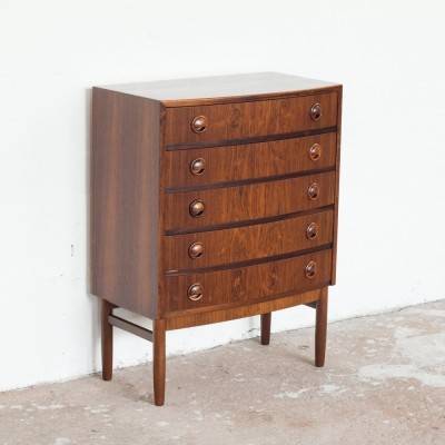 Chest of 5 drawers in rosewood by Kai Kristiansen