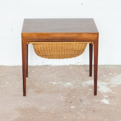 Sewing table in rosewood by Severin Hansen for Haslev