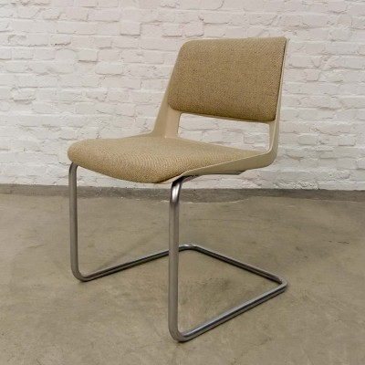 Elegant Gispen Tubular Desk Chair, 1960s