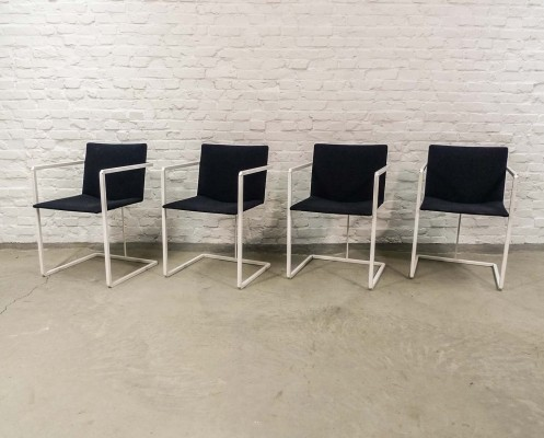 Four Minimalistic Dining Chairs by Hennie de Jong for Castelijn, 1970s