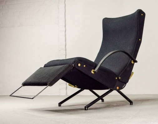 Iconic First Edition Osvaldo Borsani P40 Adjustable Lounge Chair for Tecno, 1955