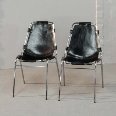 Authentic 'Les Arcs' Chairs by Charlotte Perriand for Cassina, 1968