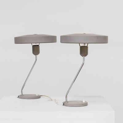 Pair of desk lamps by Louis Kalff for Philips, 1960s