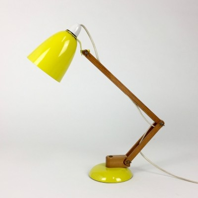 Wooden arm Maclamp desk lamp by Terence Conran for Habitat, 1960s