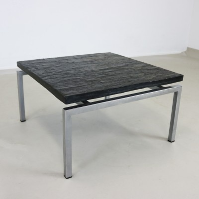 Special side coffee table with slate top, 1960s