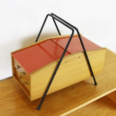 Small fifties storage sewing stand