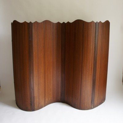 Early 20th Century French Tambour Screen
