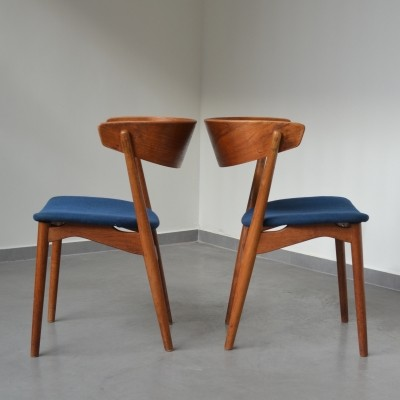 2 x Model No. 7 dinner chair by Helge Sibast for Sibast, 1950s