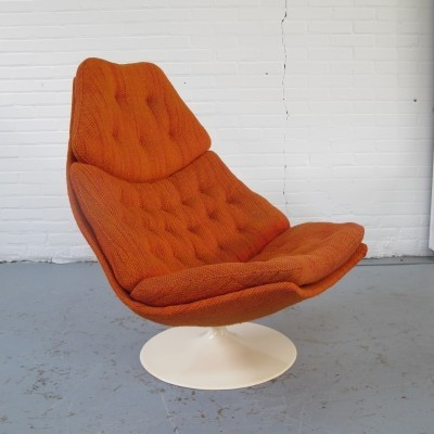 F587 lounge chair by Geoffrey Harcourt for Artifort, 1960s
