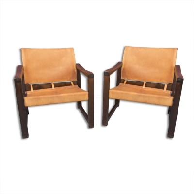 Pair of Safari arm chairs by Karin Morbing for IKEA, 1970s