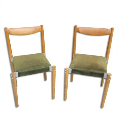 Pair of Miroslav Navrátil dining chairs, 1970s