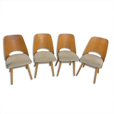 Set of 4 Ton Czechoslovakia dining chairs, 1960s