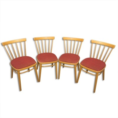 Set of 4 dinner chairs by J. Kobylka for Tatra Nabytok NP, 1960s