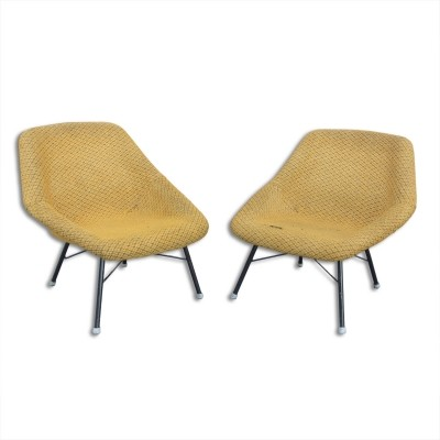 Pair of lounge chairs by Magda Sepova for TON, 1960s