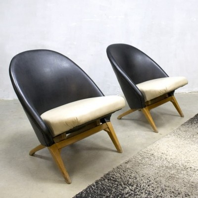 2 x Congo lounge chair by Theo Ruth for Artifort, 1940s