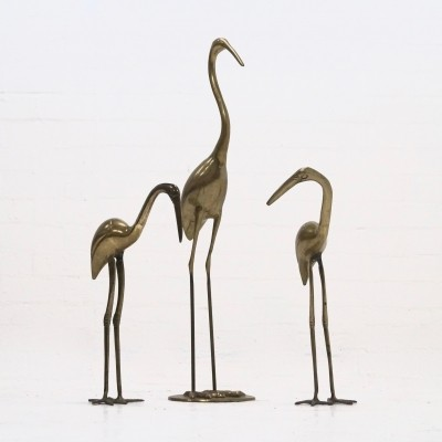 Mid-Century Brass Sculptures 1970s