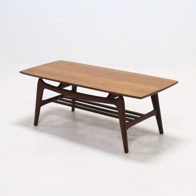 Mid-Century Teak WeBe Coffee Table by Louis van Teeffelen, 1950s