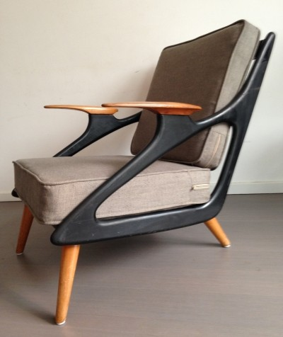 Atomic lounge chair by B. Spuij, 1950s
