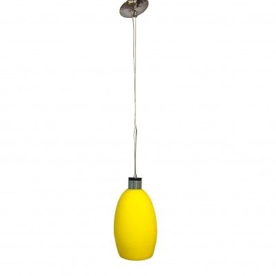 Yellow murano glass Monopunto series chandelier by Metalspot, 1980s