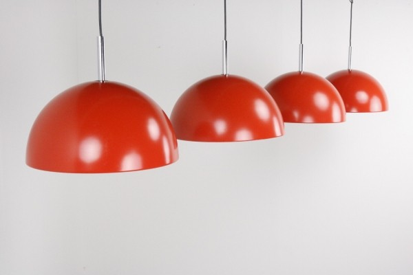 8 large hanging lamps, 1970s