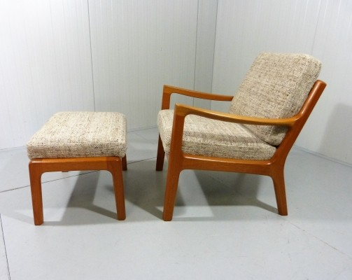 Ole Wanscher Senator Easy Chair & Footstool