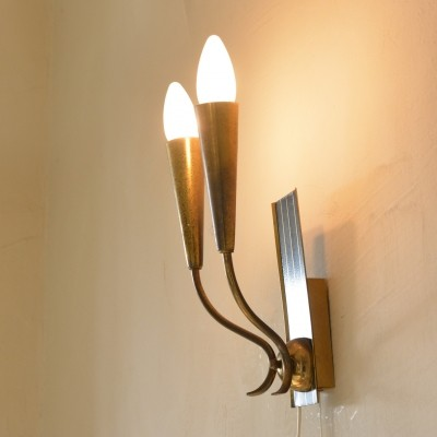Torch wall lamp, 1950s