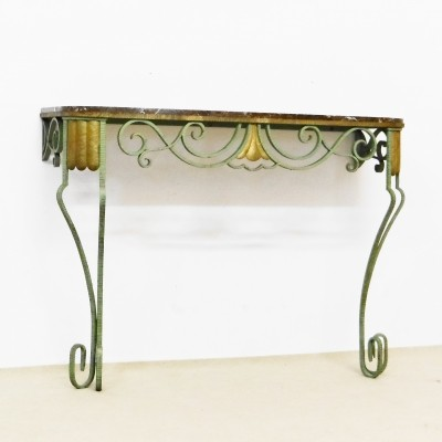 Iron / brass wall table, 1920s