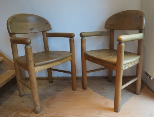 Pair of dinner chairs by Rainer Daumiller for Hirtshal Sawmill, 1970s