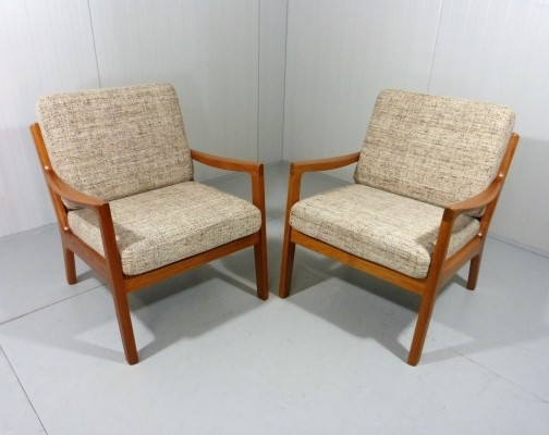 Pair of Senator lounge chairs by Ole Wanscher for P. Jeppesen Møbelfabrik, 1960s